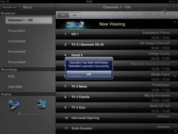 panasonic dmr-bct73 digaplayer app begrænsning
