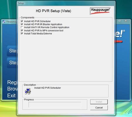 hp pvr install