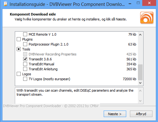 dvbviewer_installcomponents