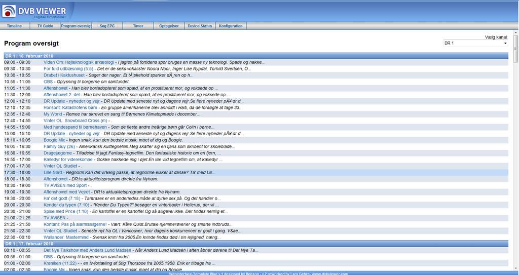 dvbviewer webserver