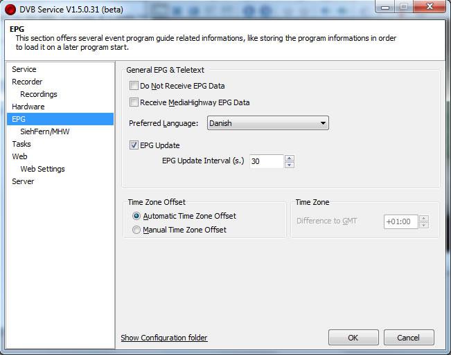 Epg updating service list