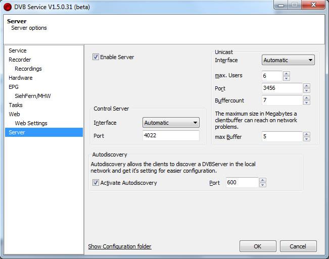 recservice server