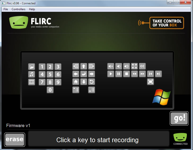 flirc setup windowsmedia
