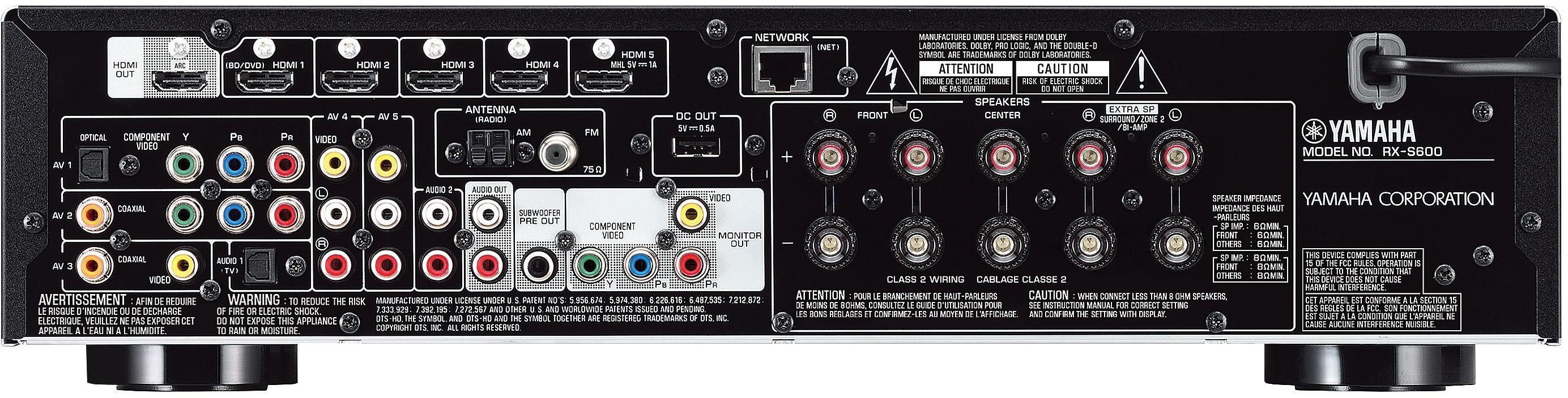 yamaha rx s600d slim surround receiver med dab test. Black Bedroom Furniture Sets. Home Design Ideas