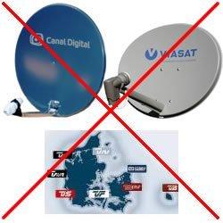 Ingen signal viasat parabol
