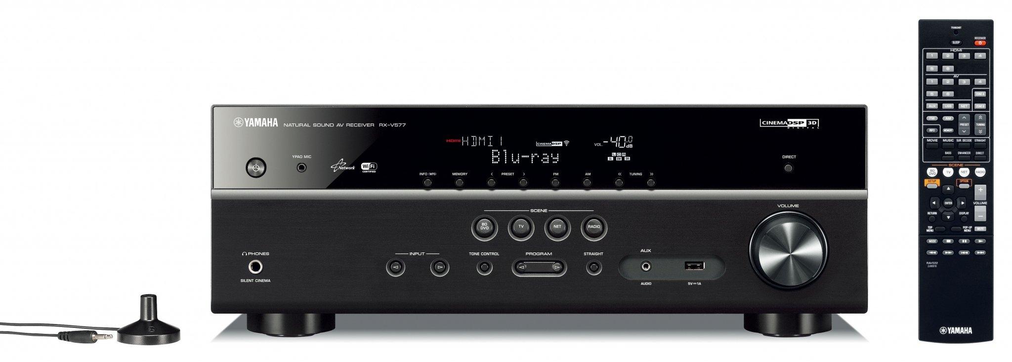 Yamaha rx v577 surround receiver produktoversigt for Yamaha tv receiver