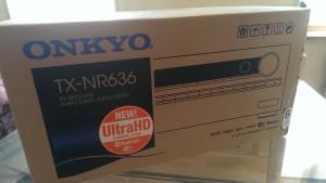 Onkyo TX-NR636 ankommet
