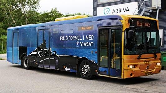 Viasat Formel1 bus