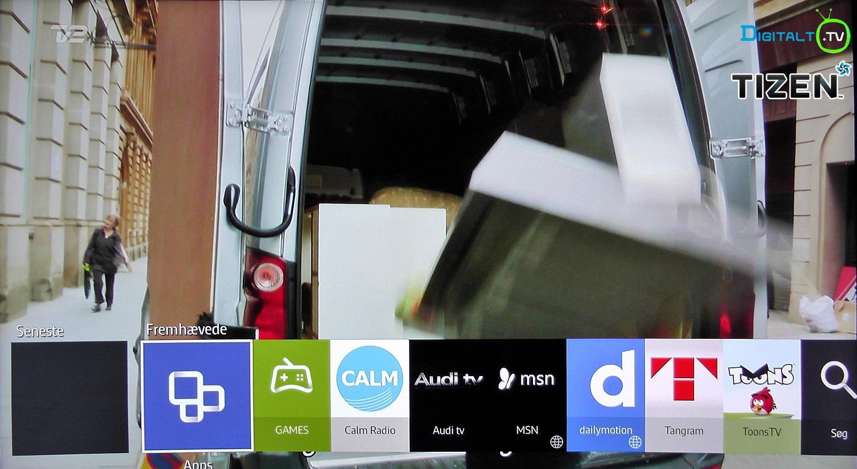 2015 Smart TV Tizen fremhævede