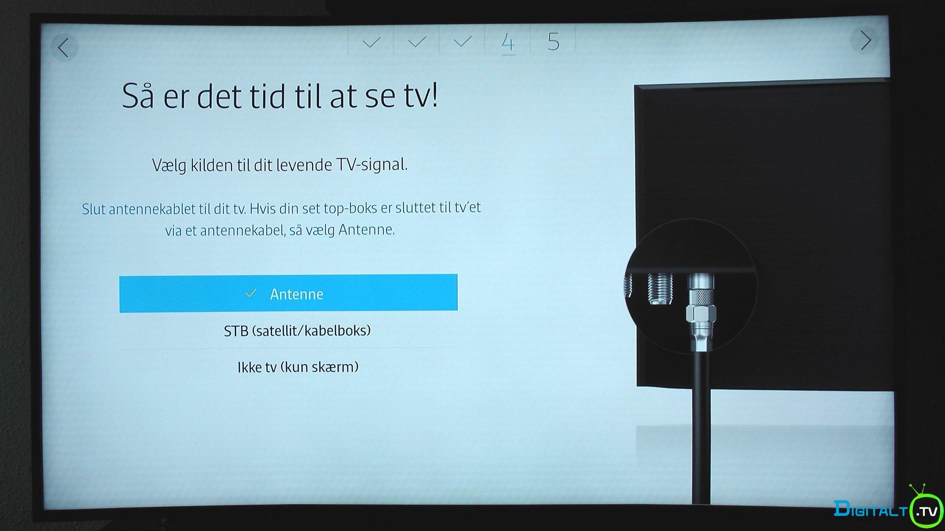 JU7505 installation tv signal kilde