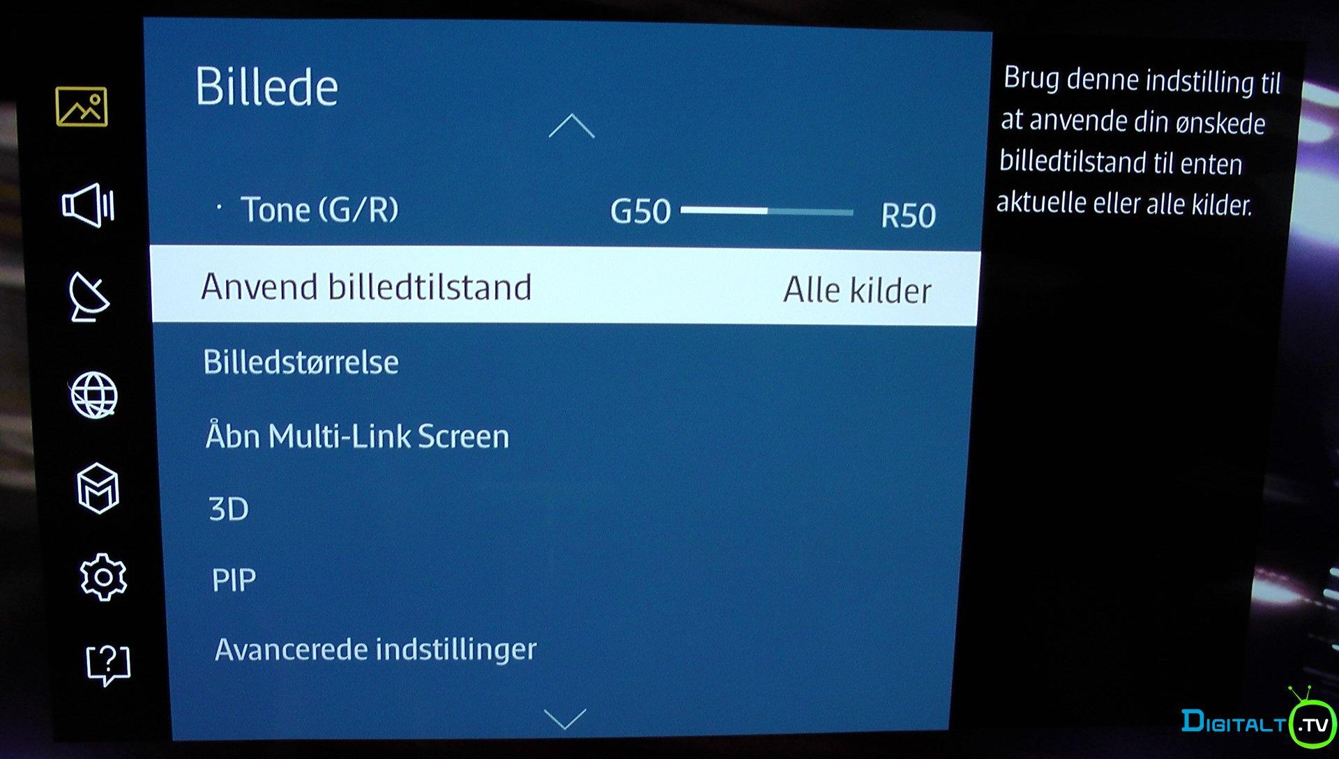 Anbefalede indstillinger Samsung TV alle kilder
