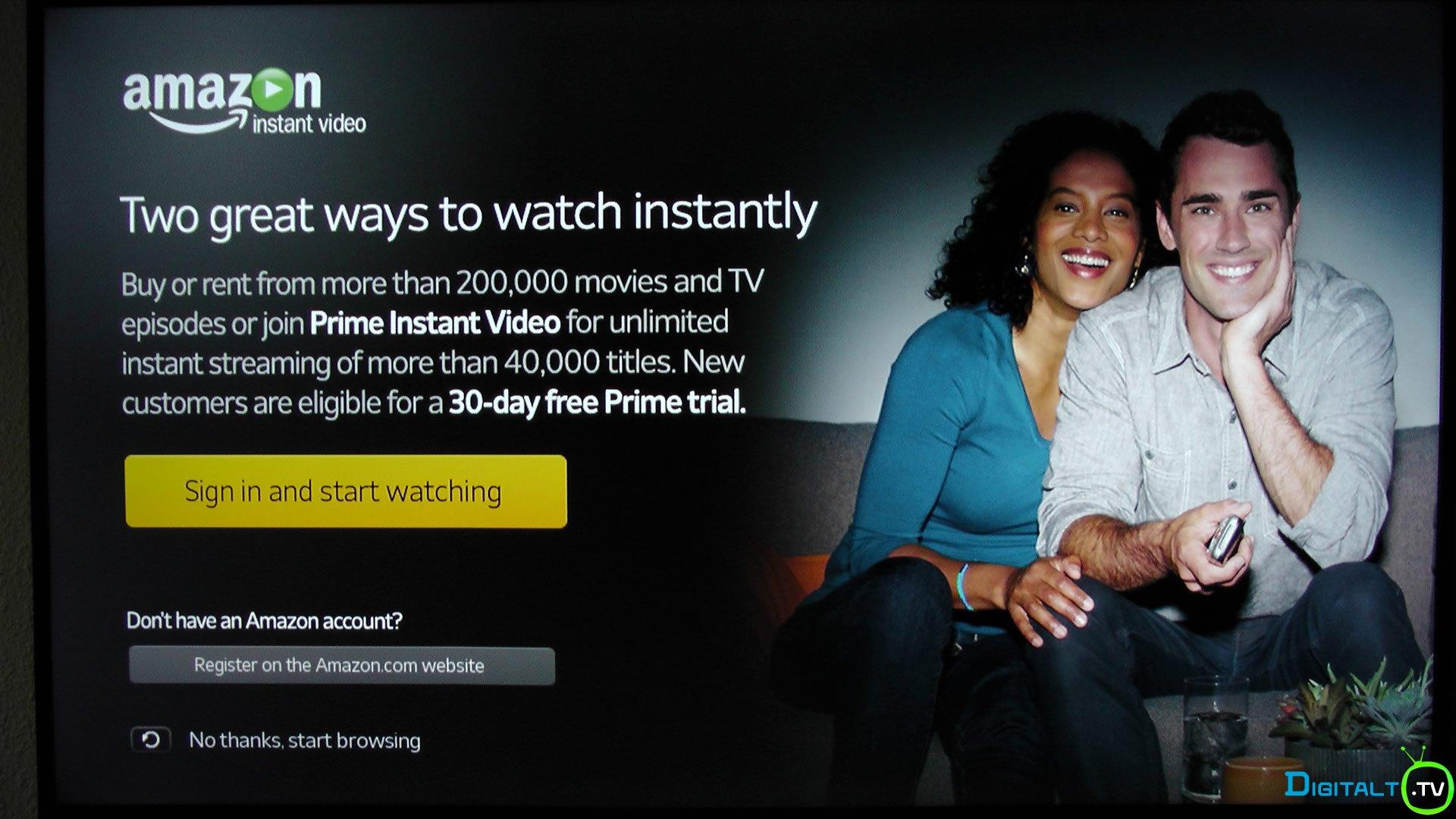 Amazon instant Video Samsung Tizen Smart TV