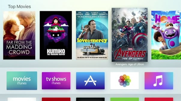 Apple TV ny brugeroverflade