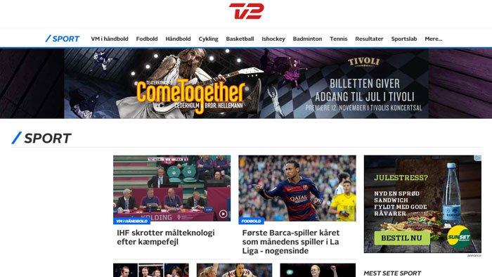Sport.tv2.dkScreenshot