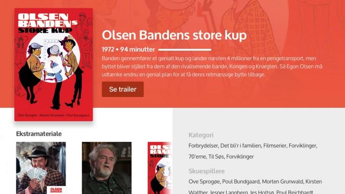Dansk Filmskat Olsen Bandens store kup