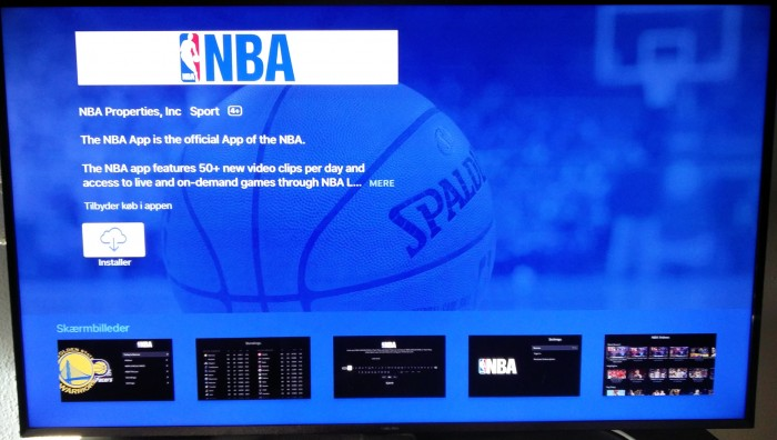 NBA Apple TV app store