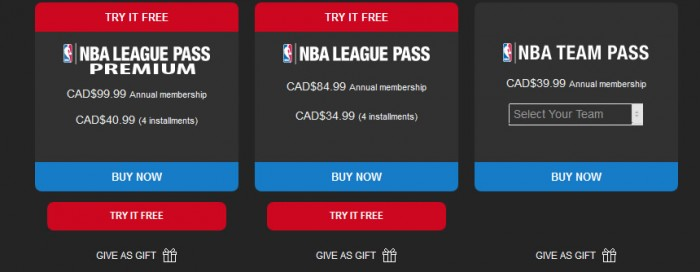 nba league pass canada