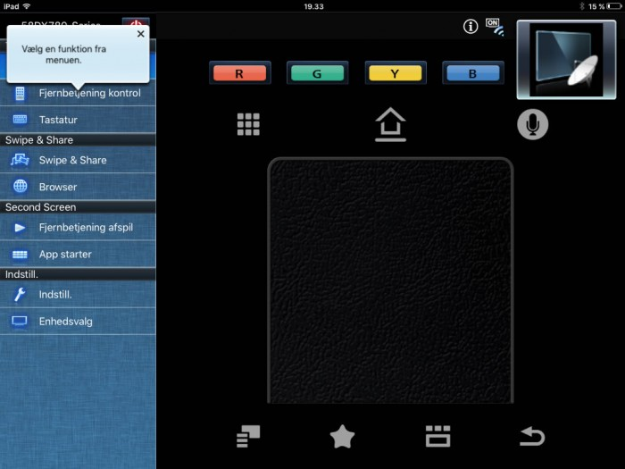 Panasonic TV Remote app2