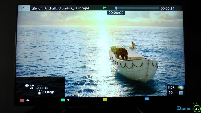 Panasonic TV medieafspiller HDR indhold