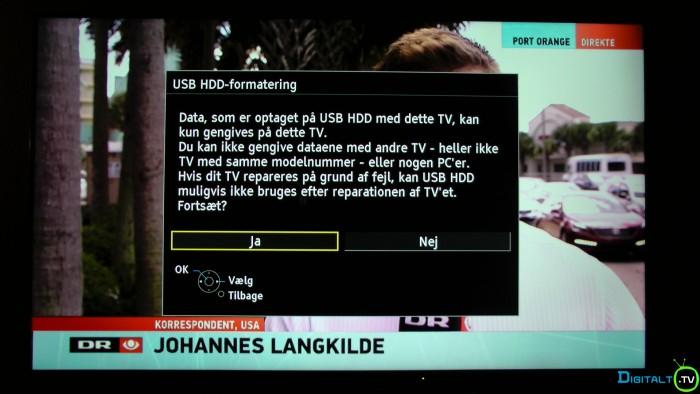 Panasonic USB harddisk formatering (2)