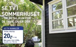 Foto af Viasat i sommerhuset – betal pr. døgn