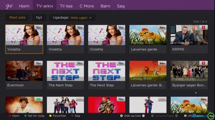 Canal Digital Smart boks TV arkiv Go