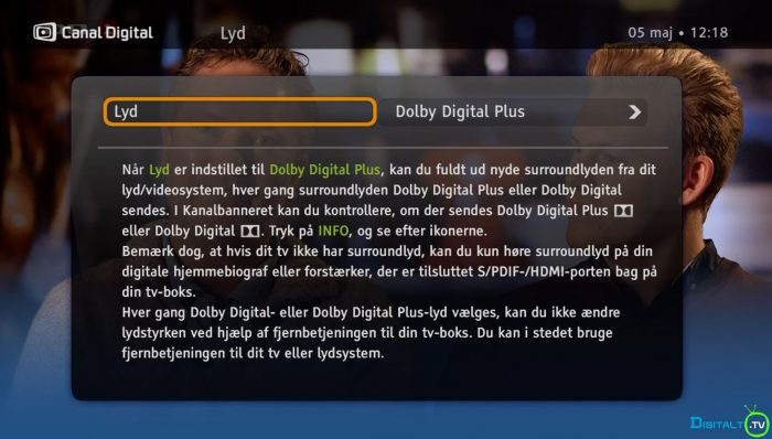 Canal Digital Smart boks lyd