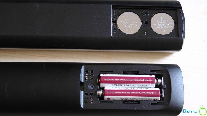 Canal Digital fjernbetjening ny og gammel batterier