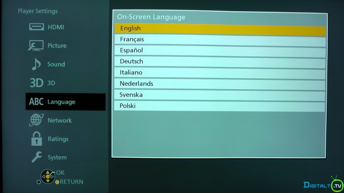 Panasonic UB900 osd menusprog