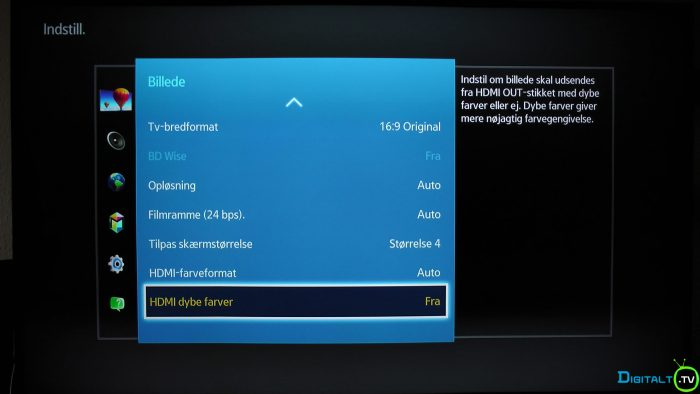 Samsung UBD-K8500 HDMI dybe farver