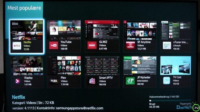 Samsung UBD-K8500 apps