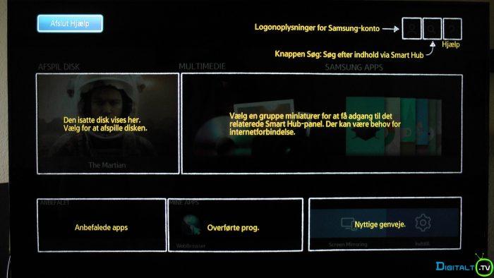 Samsung UBD-K8500 brugeroverflade intro
