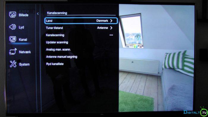 TCL S79 kanalscanning menu