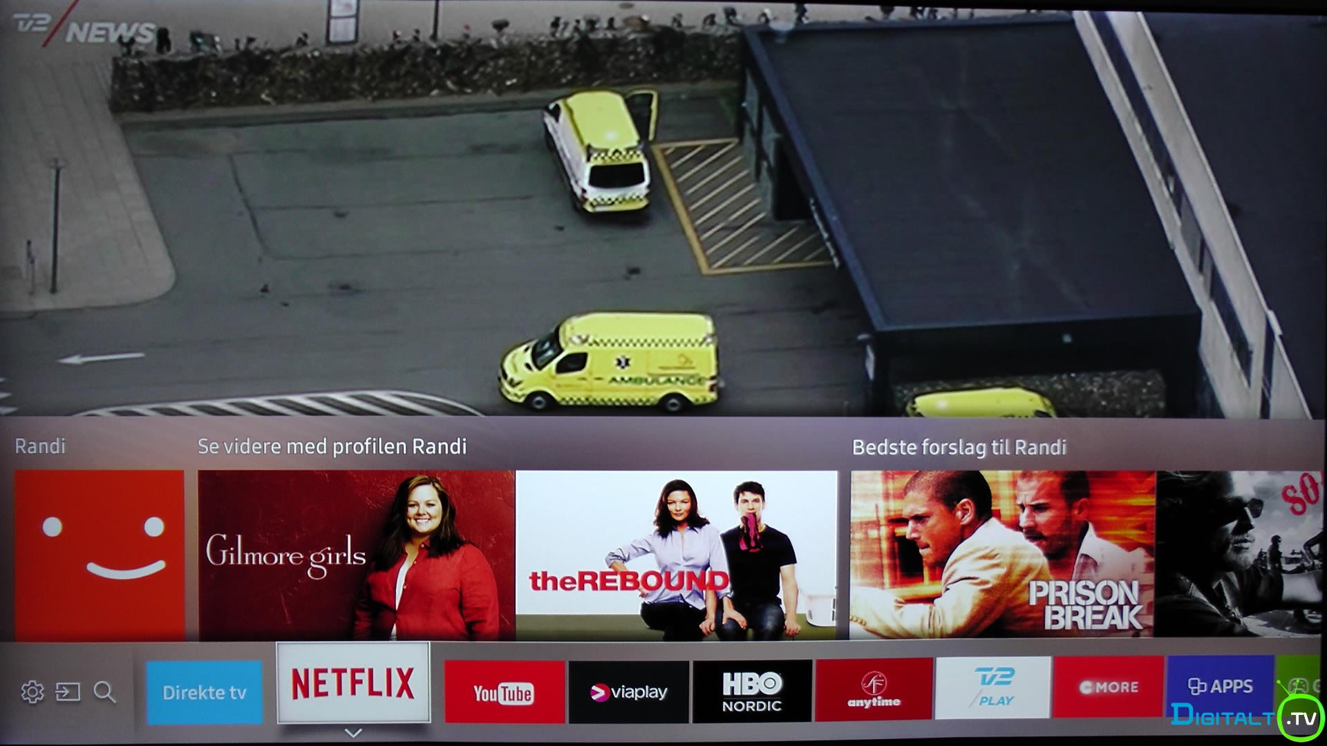 Samsung KS7005 Netflix app bar