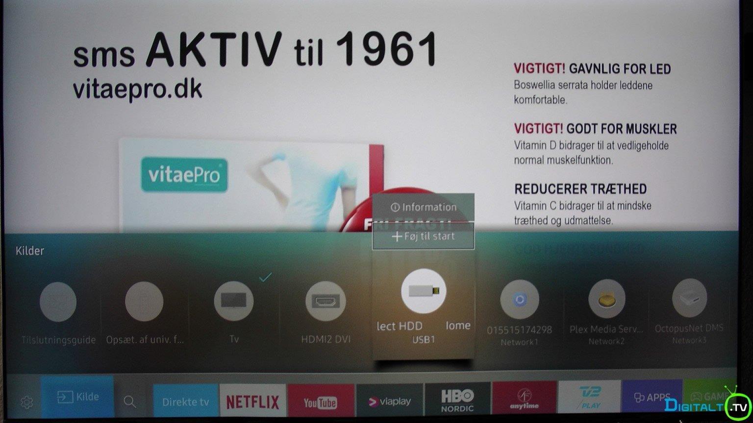 Samsung Tizen tilfoj til menuen