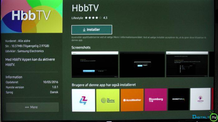 Samsung hbbtv app