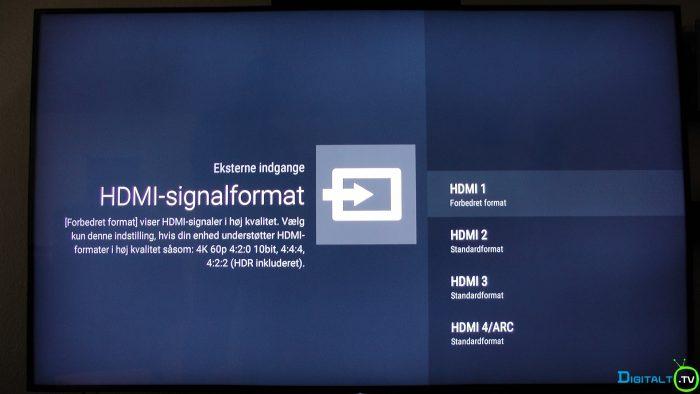 Sony XD9305 HDMI signalformat