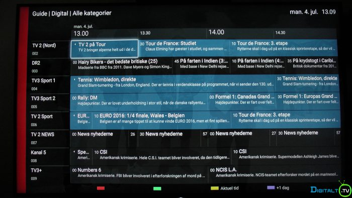 Sony XD9305 TV Guide