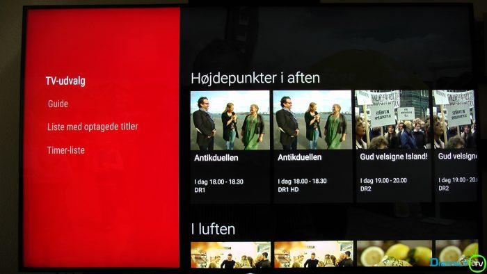 Sony XD9305 TV guide udvalg