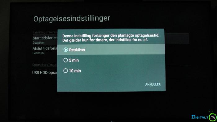Sony XD9305 timer ekstra tid indstilling