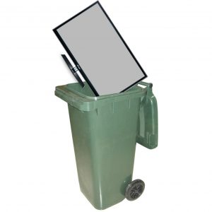 TV trashcan