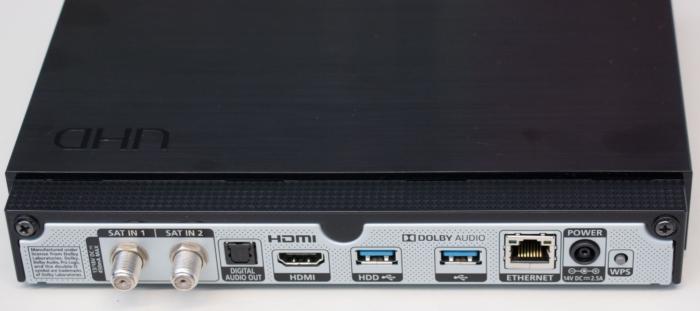 Viasat Ultra HD boks tilslutninger Samsung
