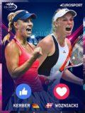 Foto af Caroline Wozniacki og Angelique Kerber også på Kanal 5