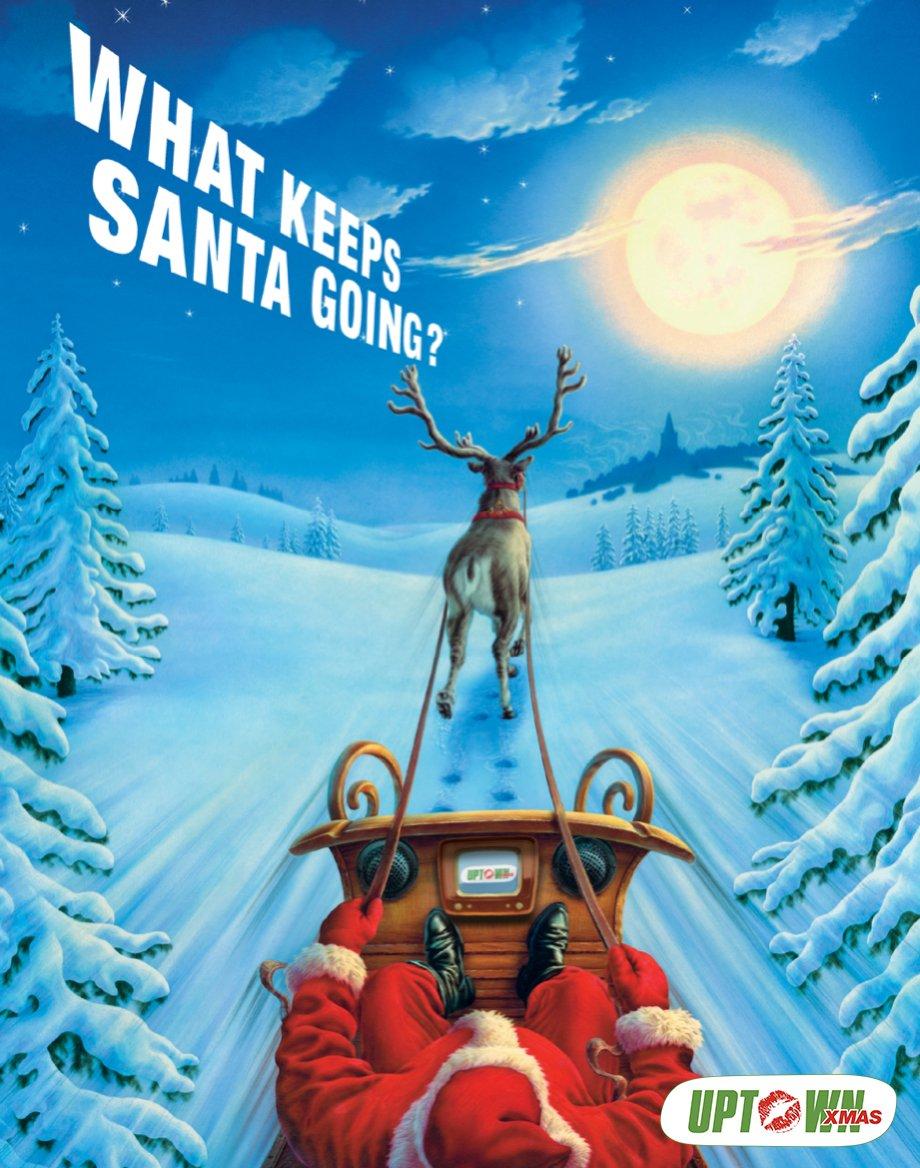 Uptown Xmas TV Santa