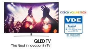 Foto af 2017 Samsung QLED TV får tysk farvecertificering