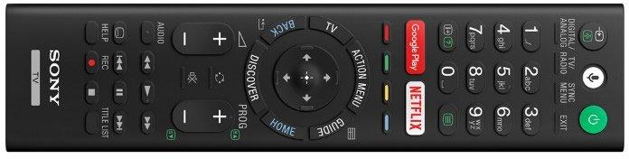 Sony 2017 TV remote
