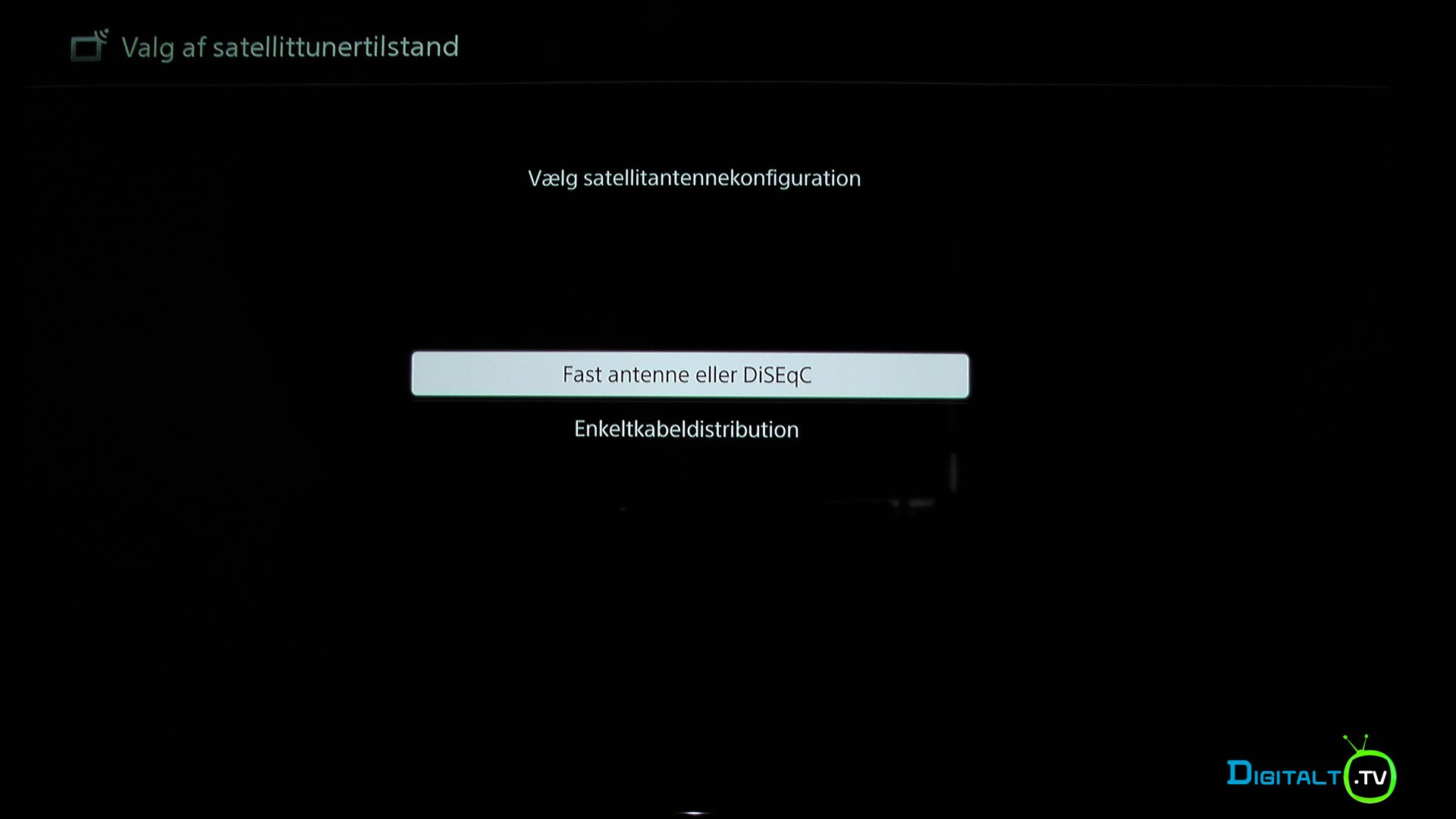 Sony XE9005 TV Tuner indstilling sat