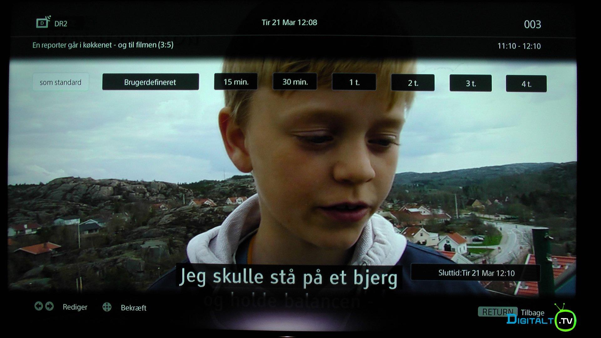 Sony XE9005 optag tv