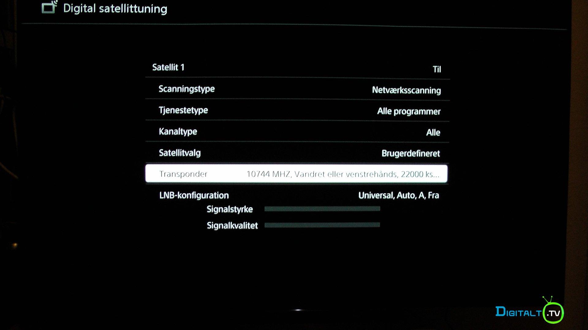 Sony XE9005 sat 5 øst
