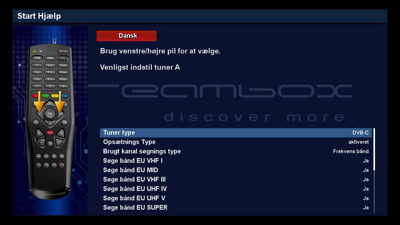 DM525 installation DVB C kanalsogning